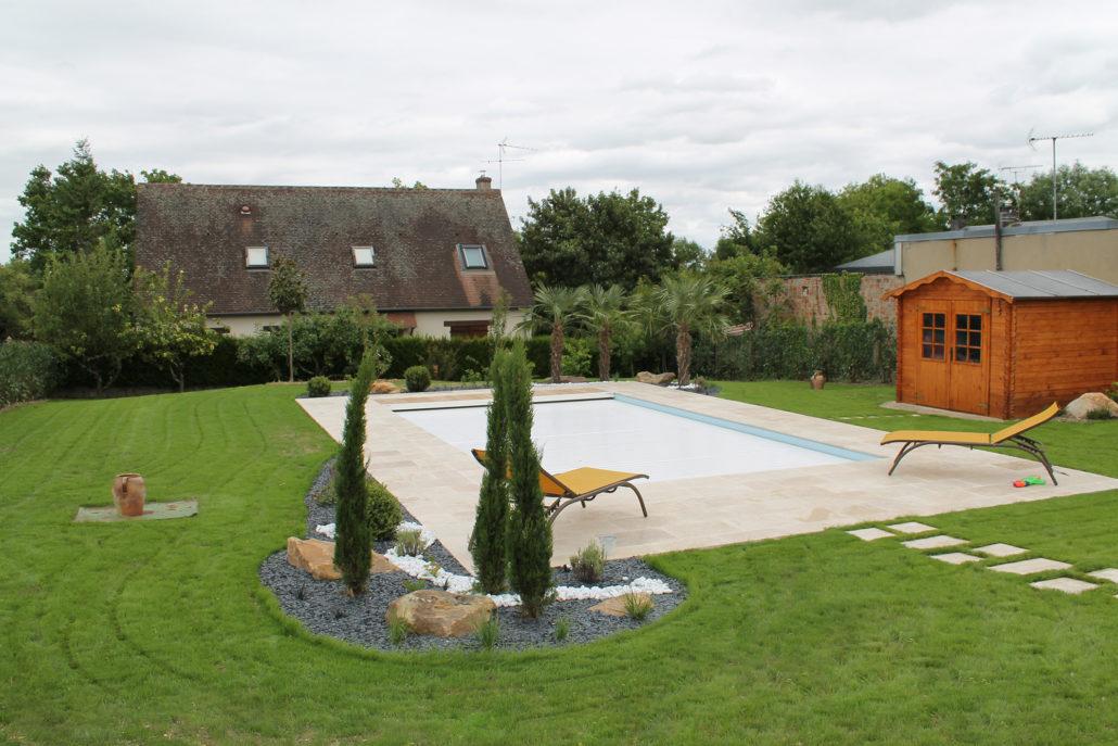 Aménagement jardin Montargis Amilly | Sauvegrain Paysage
