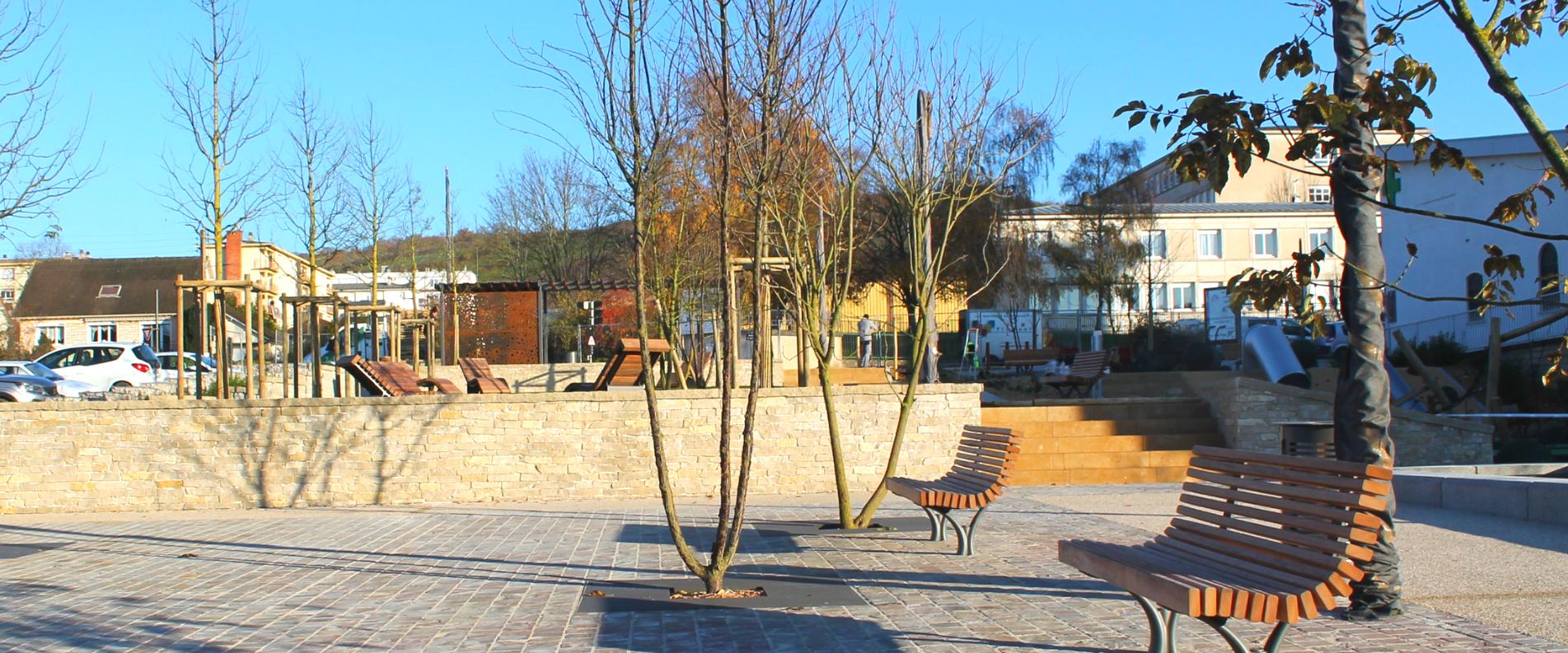 Mobilier urbain pour espaces publics