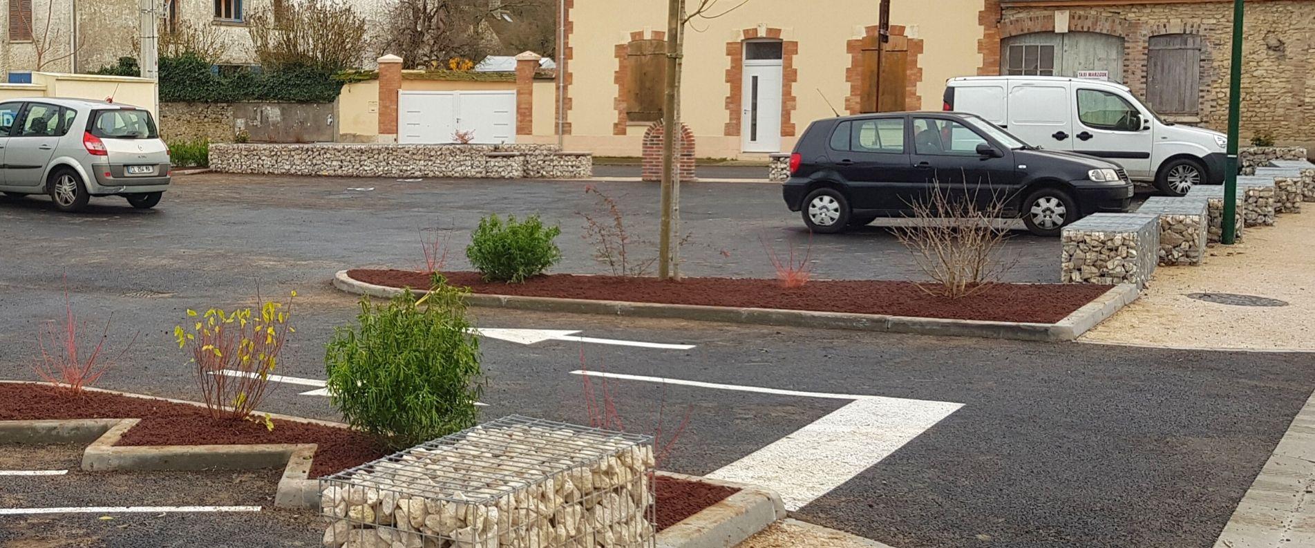 Murs en gabion pour parking