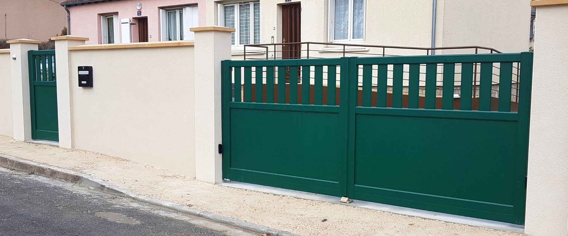 Pose d'un portail et d'un portillon