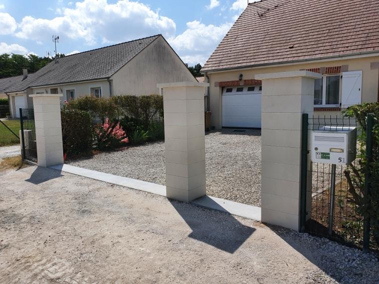 Création de piliers et d'un seuil pour portail et portillon